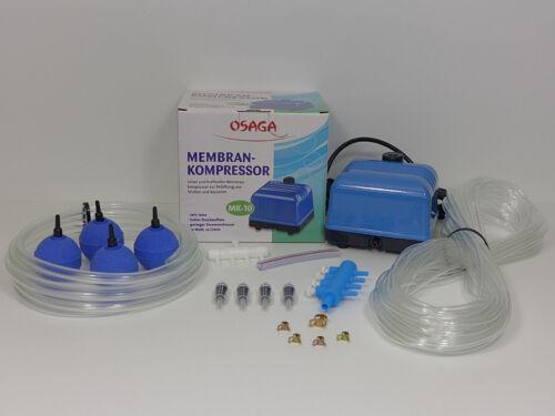 30 Osaga MK Serie 10 60 Teichbelüfter Sauerstoffpumpe Belüfter // Zubehör 20