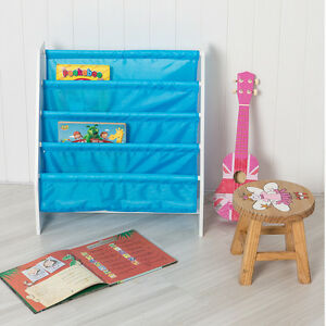 Image Is Loading Children 039 S Sling Bookcase In Blue Book