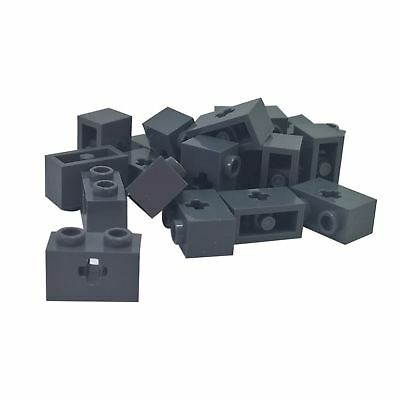 Lego 5 New Dark Bluish Grey Technic Bricks 1 x 2 Dots with Axle Hole Pieces