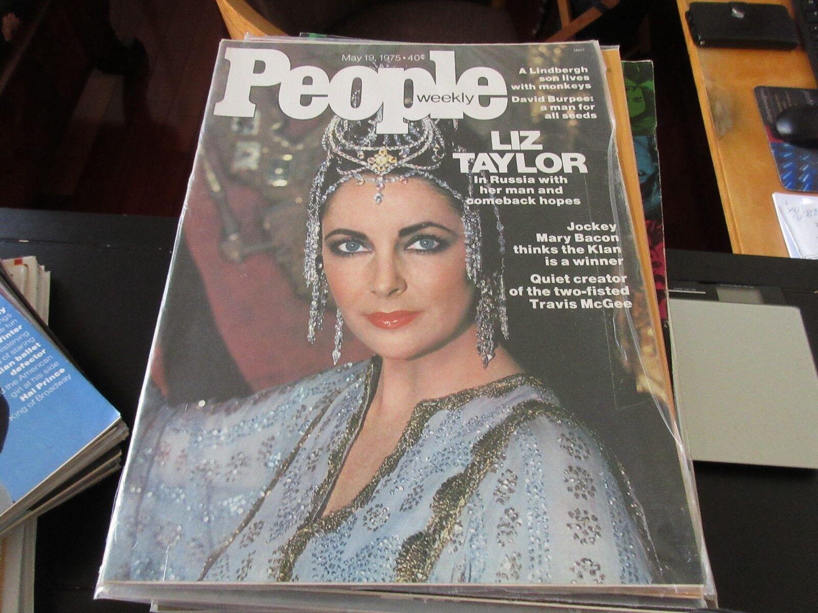 People Magazine , Liz Taylor , 5/19/75 , Mary Bacon , T