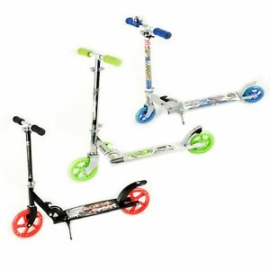 City Roller Scooter Advanced PU Räder Farbe Blau Grün Schwarz-Rot
