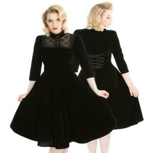 hr black velvet dress nightshade lace corset vintage