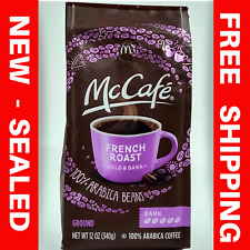 ☕ MCCAFE FRENCH ROAST Bold & Dark Ground Coffee 100% Arabica Beans 12oz Bag NEW