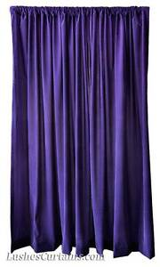 Violet-274cm-H-Rideaux-Velours-Long-Panneau-Simple-Grand-Traitement-Fenetre