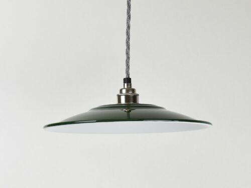 Flat Vintage Industrial Factory Enamel Shade Lampshade Steel Pendant