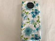 NWT Cynthia Rowley Blue Green Floral Cotton Kitchen Dish Towel Set Of 2 NEW