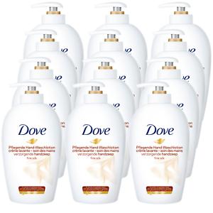 Dove-Seife-Fluessigseife-12-x-250-ml-Pflegende-Waschlotion-Seifenspender