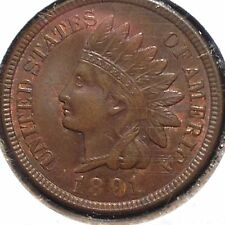 SHARP 1891 INDIAN HEAD CENT IN CHOICE UNCIRCULATED- GREAT COLLECTOR COIN & GRADE