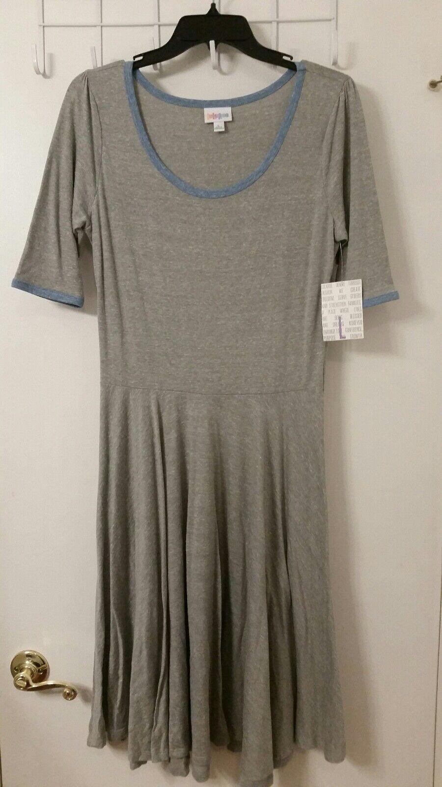 LuLaRoe heathered Nicole dress BRAND NEW WITH TAGS