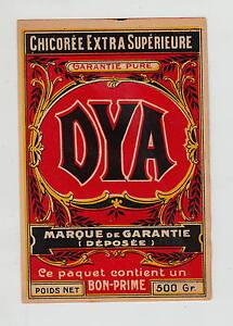 Ancienne étiquette Chicorée DYA xxMWSJ60-09093726-596154422