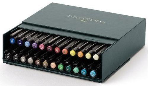 Faber CASTELL PITT artist brush stylos 24 couleur box set