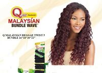 Que Malaysian Reggae Twist 5pcs Human Hair Blended Weave Extension