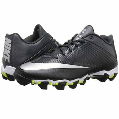 Football Cleat Black Silver White Gray