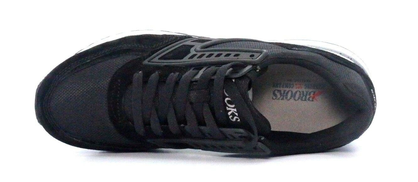 BROOKS 1102051D091 REGENT Mn's (M) nero Clast bianca Suede Mesh Mesh Mesh Running scarpe aaf1c5