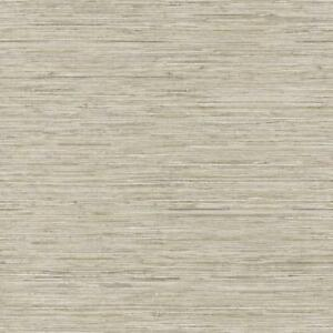 Wallpaper-Cream-Taupe-Tan-Gray-FAUX-Grasscloth-Smooth-Finish-Looks-Real-Up