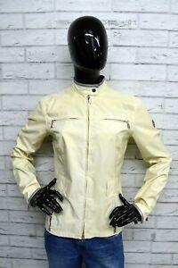 Giubbino-BELSTAFF-GOLD-Donna-Taglia-L-Giubbotto-Giacca-Coat-Jacket-Beige-Pelle
