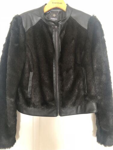 Fur Jacket M Bebe Faux Jacket M Fur Faux Bebe Bebe 0TqWFxUw