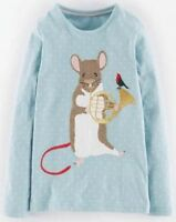 NEW JUST IN!! 10+ STYLES Mini Boden Girls Long Sleeve Applique Tops Age 1-12Yrs