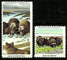 MUSK OX, NATIONAL WILDLIFE FEDERATION CINDERELLAS 1970, MNH, NICE SET OF 2