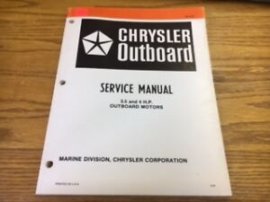 chrysler outboard service manual 3 5 4 h p outboard motor ob 3783 rh ebay com 1972 Chrysler 6Hp Outboard Motor Chrysler Outboard Part Numbers