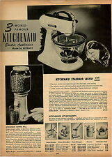 1947 PAPER AD 2 PG Kickenaid Electric Food Mixer Deluxe Coffee Mill Grinder