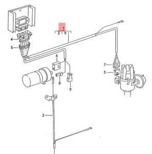 details about genuine volkswagen wiring harness for ignition system nos vanagon 025971131c Alternator Wiring Harness