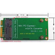 mSATA to SATA Mini PCI-e PCI Express Converter Adapter Card