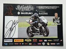 Ian Lowry Hand Signed Relentless Suzuki Poster BSB.