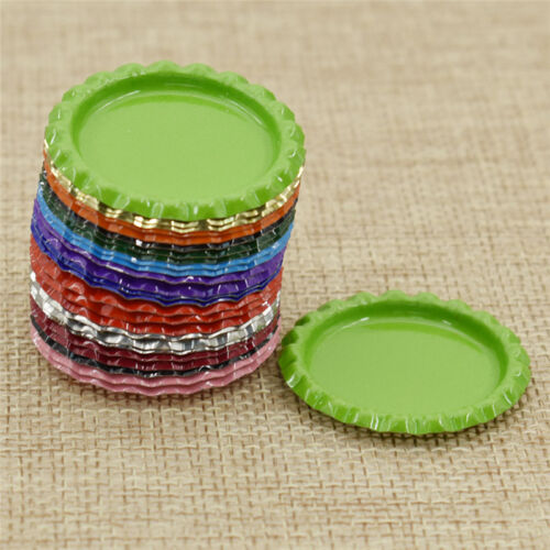 25pcs//lot Inside Colored Flattened Bottle Caps for DIY Crafts Hair Accessories