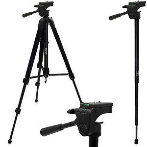 150cm-2-in-1-Cavalletto-Treppiede-amp-Monopiede-Combinato-per-Fotocamera-Reflex