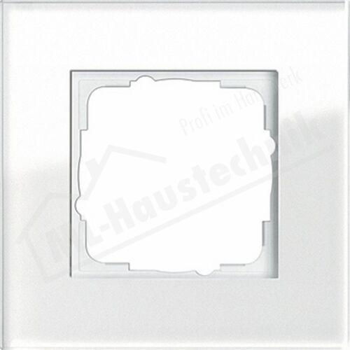 Gira 021112 Rahmen Esprit 1 fach Glas weiß