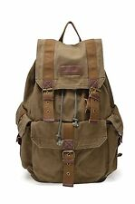 Gootium21101 Specially High Density Thick Canvas Backpack Rucksack Army Green