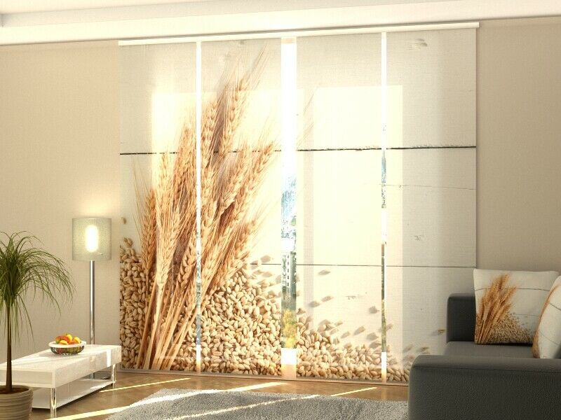 Fotogardine trigo SANELA cortina de paneles con foto a Gardine medida