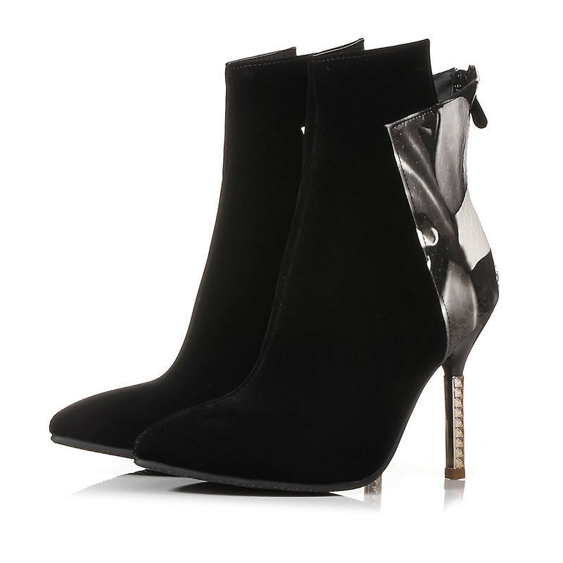 Vogue Women Pointed Toes High Heel Stilettos Ankle Boots Zipper shoes Hot 4