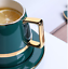 Creative-Drawing-gold-Porcelain-Tea-Cup-and-Saucer-Coffee-Cup-Set-With-Spoon-Lid thumbnail 12