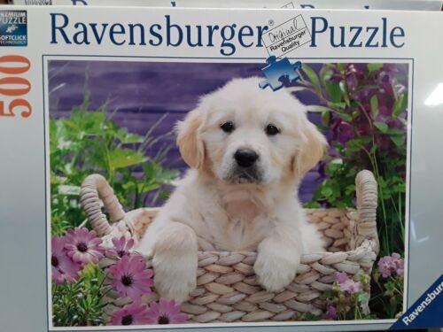 Ravensburger SWEET GOLDEN RETRIEVER puppy dog 500 pcs jigsaw puzzle