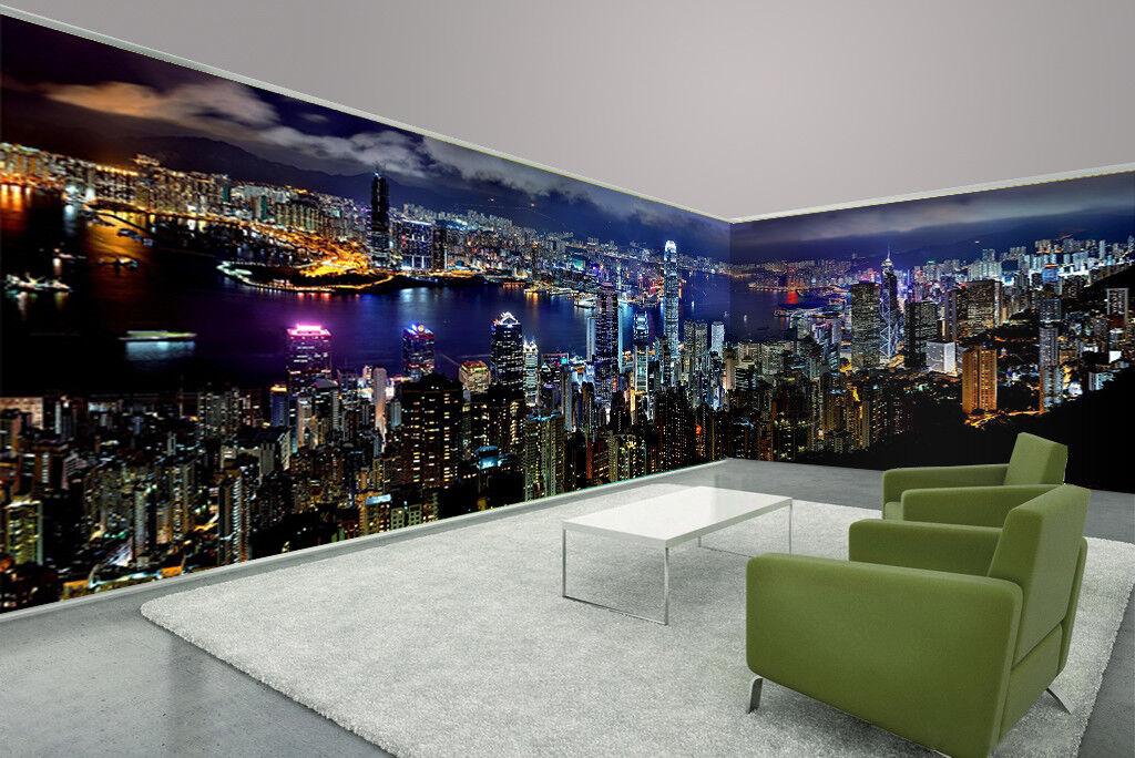 3D Nachthimmel Stadt 8098 Tapete Wandgemälde Tapeten Bild Familie DE Lemon | Vorzugspreis  | Verkauf  | New Style