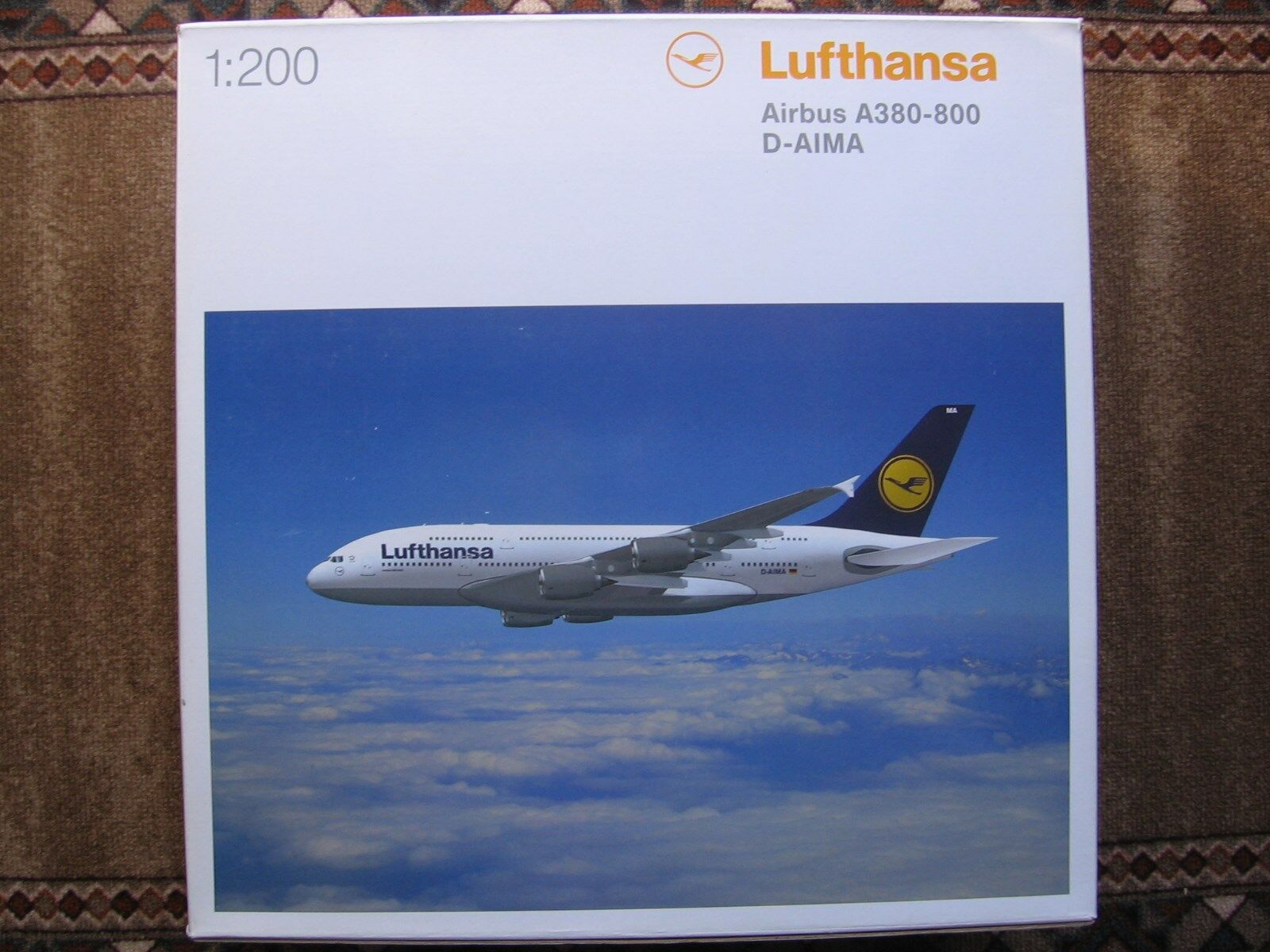 Lufthansa – Herpa Wings airbus a380-800 1 200 D-AIMA nuevo mint