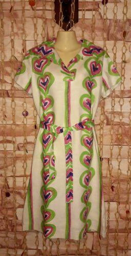 Vintage Norman Wiatt Mod 100% Linen Colorful Shift