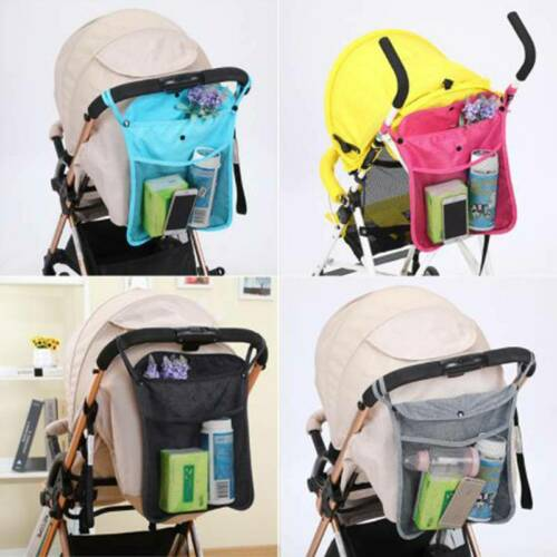Infant Baby Kids Stroller Pram Buggy Pushchair Net Pocket Mesh Bottle Nappy Bag