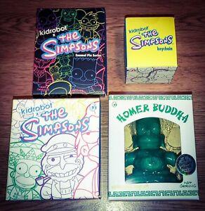 Les figurines Kidrobot des Simpsons série 2 Lot de jade bouddha vert Homer Pin Keychain