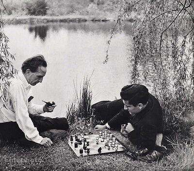 1957 Vintage Foto De Ajedrez Marcel Duchamp Larry Evans Art 16x20 Philippe  Halsman   eBay