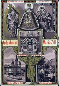 Mariazell-Pilgrimage-Old-Devotional-Picture-Holy-Icon-Austria-Steiermark-M-3534