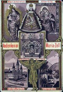 Mariazell-Wallfahrt-Antiguo-Amria-Cuadro-Santos-Austria-Estiria-M-3534