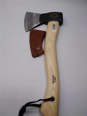 """Swiss 5.62/"""" Brown Wood Handle Stainless Hatchet"""