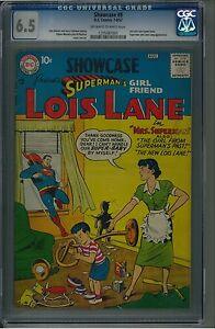 Showcase 9 CGC 6.5 OW/W Silver Age Key DC Comic Intro Lois Lane IGKC L@@K