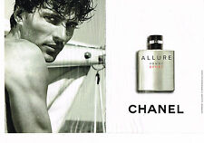 PUBLICITE ADVERTISING 124  2010  CHANEL  eau de toilette SPORT  ALLURE ( 2p)