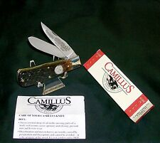 Camillus Bullet knife Bone Stag USA Remington 4356 Circa-1997 W/Packaging,Papers