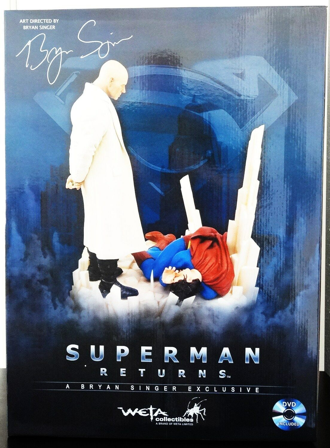 DC WETA SUPERMAN RETURNS FALLEN HERO STATUE FIGURE BUST EXCLUSIVE MARVEL