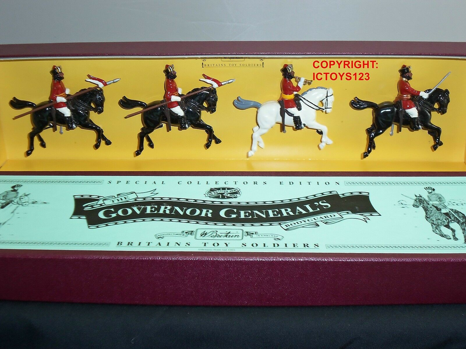 BRITAINS 8843 BRITISH ARMY IN INDIA GOVERNOR GENERALS BODYGUARD TOY SOLDIER SET